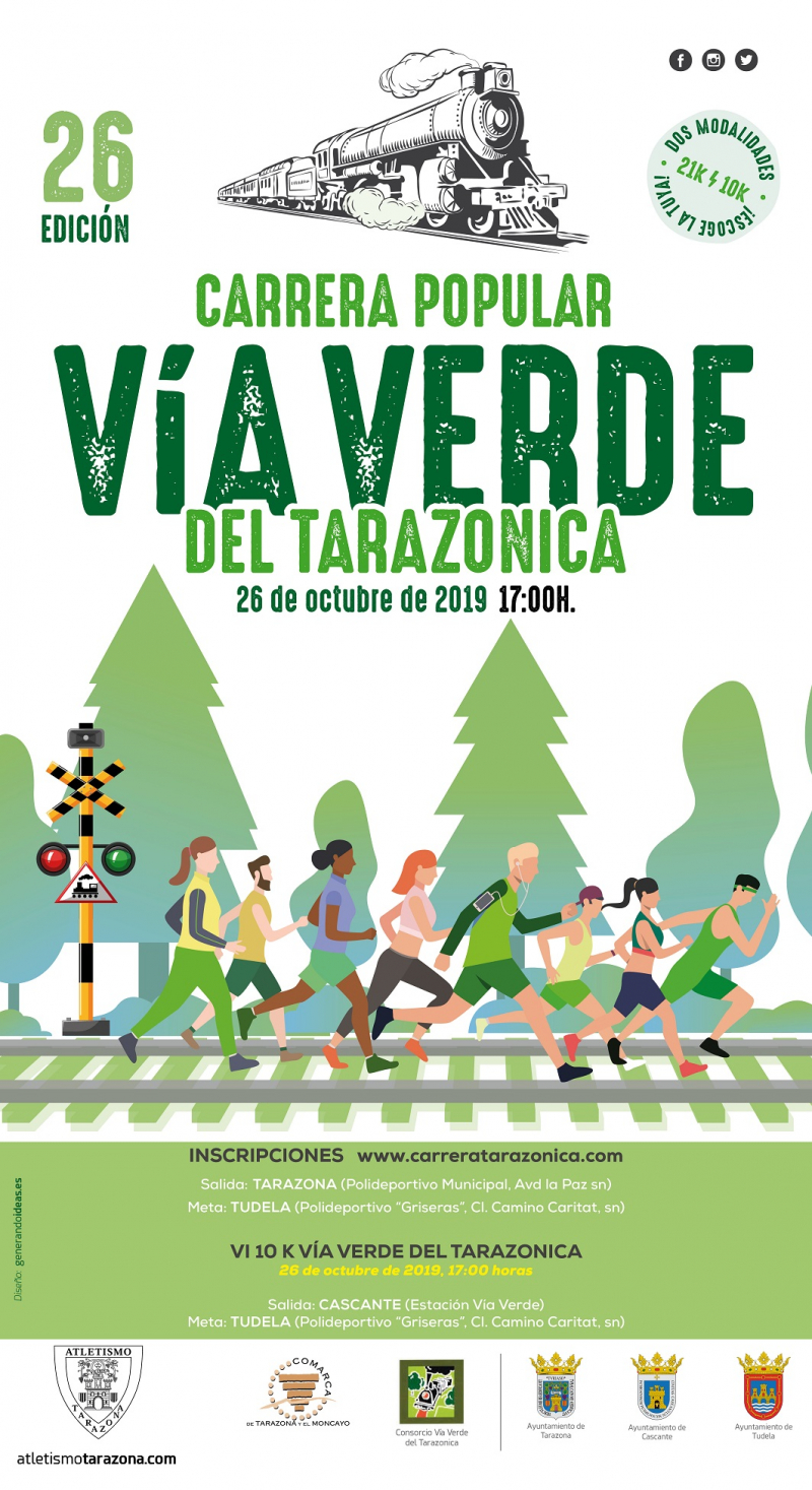 CARRERA POPULAR VIA VERDE TARAZONICA 2019 - Inscríbete
