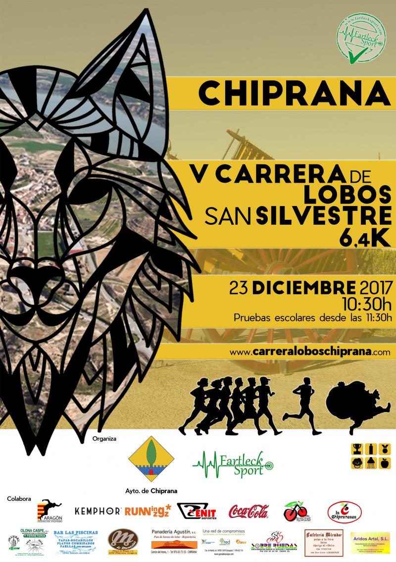 V CARRERA LOBOS CHIPRANA 2017 - Inscríbete