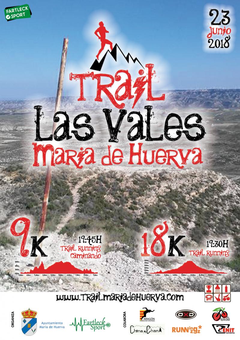 TRAIL LES VALES MARIA DE HUERVA 9K 18K -2018 - Inscríbete
