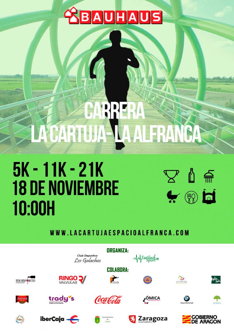 CARRERA LA CARTUJA LA ALFRANCA 5K - 11K - 21K  2018 - Inscríbete
