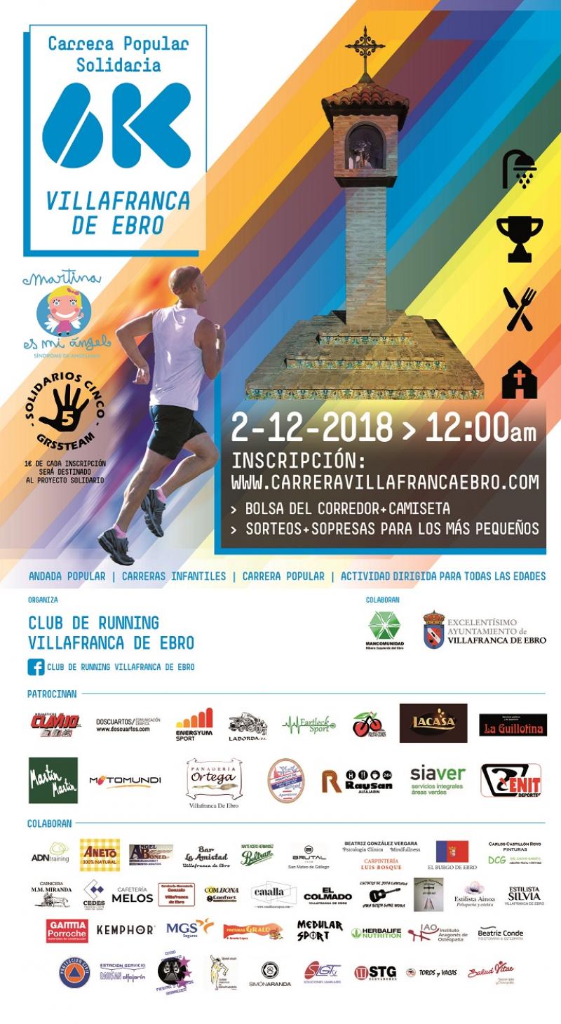 CARRERA POPULAR SOLIDARIA VILLAFRANCA DE EBRO 2018 - Inscríbete