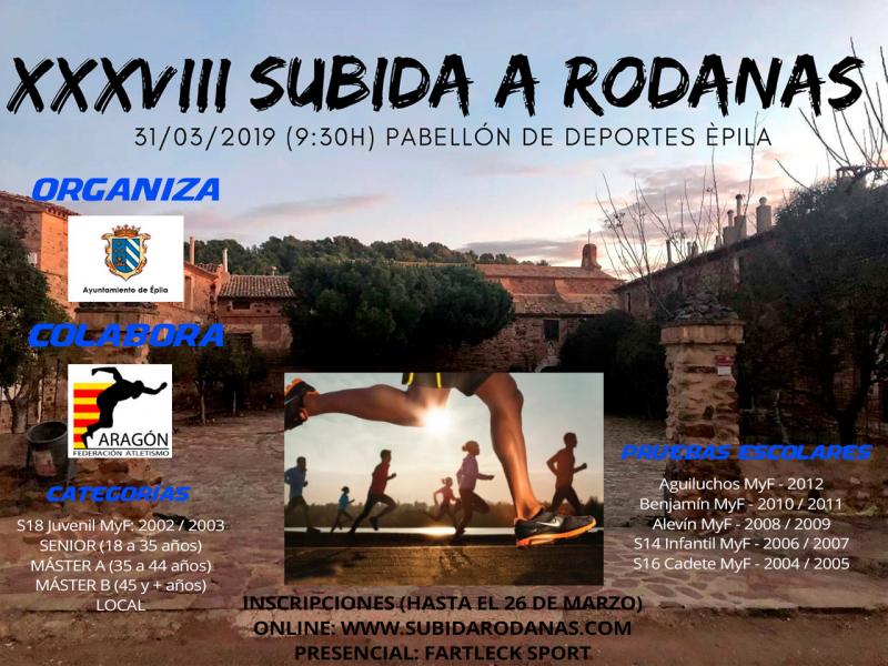 XXXVIII SUBIDA A RODANAS 2019 - Inscríbete