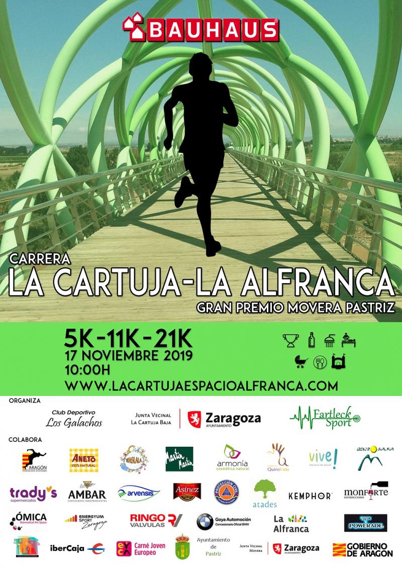 IV CARRERA LA CARTUJA LA ALFRANCA 5K - 11K - 21K  GRAN PREMIO MOVERA PASTRIZ 2019 - Inscríbete